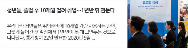 [일자리뉴스] 청년들, 졸업 후 10개월 걸려 취업…1년반 뒤 관둔다